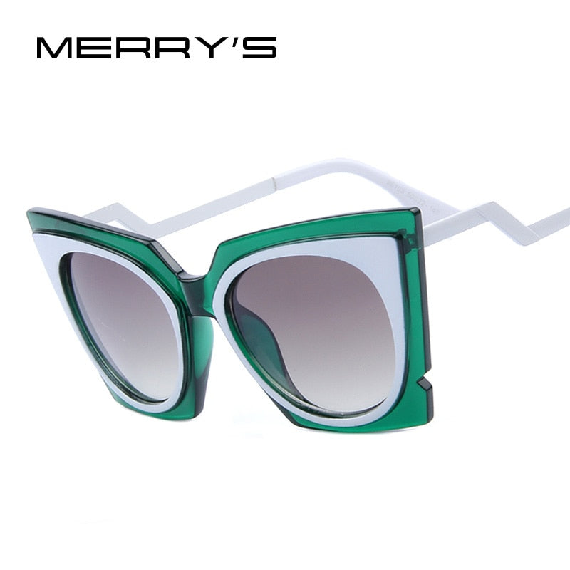 MERRY'S Brand Designer Cat Eye Sunglasses Acetate Frame Women Fashion Sunglasses UV400 With Original Case