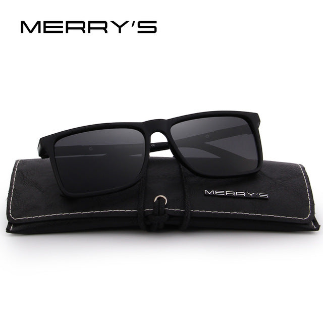 MERRY'S DESIGN Men Polarized Rectangle Sunglasses 100% UV Protection S'8296