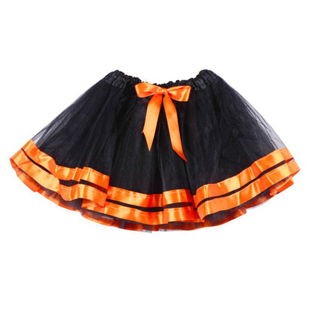Girls Skirts Petticoat Halloween Kids Clothes Pettiskirt Bowknot Skirt Tutu Skirt Fashion Baby Girl Tulle Skirt