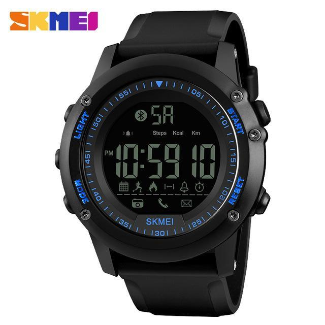 SKMEI Mens Watches Top Brand Luxury Sport Smart Watch Silicone Strap Clock Men Waterproof Bluetooth Smartwatch Relogio Masculino