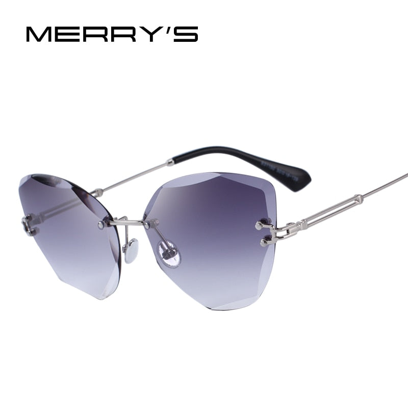 MERRY'S DESIGN Women Rimless Sunglasses Gradient Lens UV400 Protection S'6078