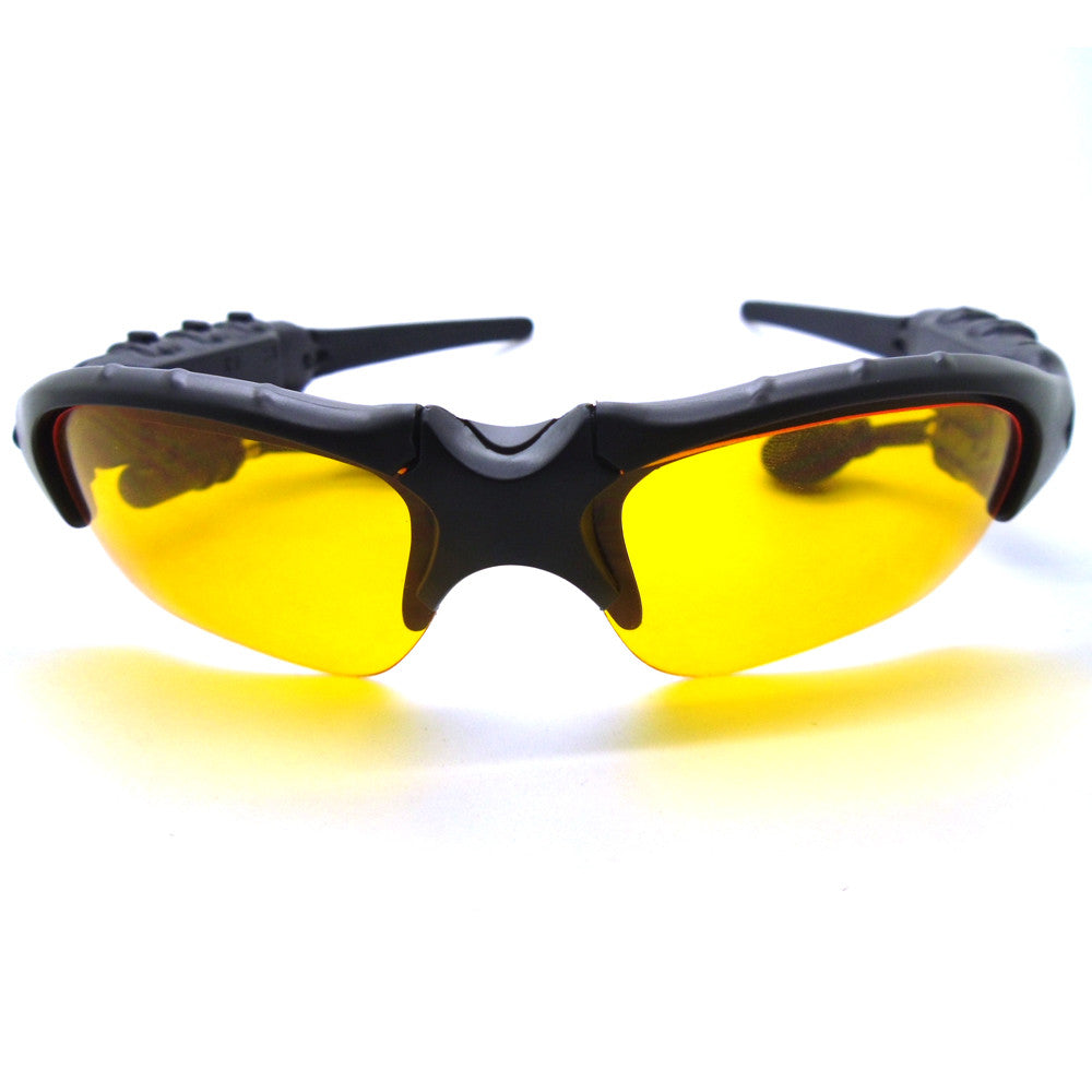 Wireless Sport Stereo Bluetooth Sunglasses Night Glasses Headset Earphone Headphone +2pcs Night Sunglass Lens