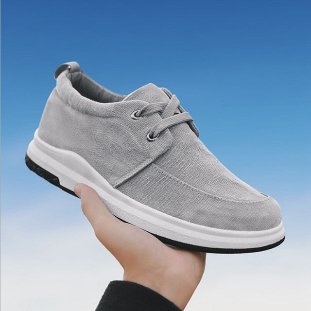 Tangnest 2018 Spring Men Canvas Shoes Breathable Outdoor Men Casual Shoes Lace-up Comfortable Flats Wearable Sneakers