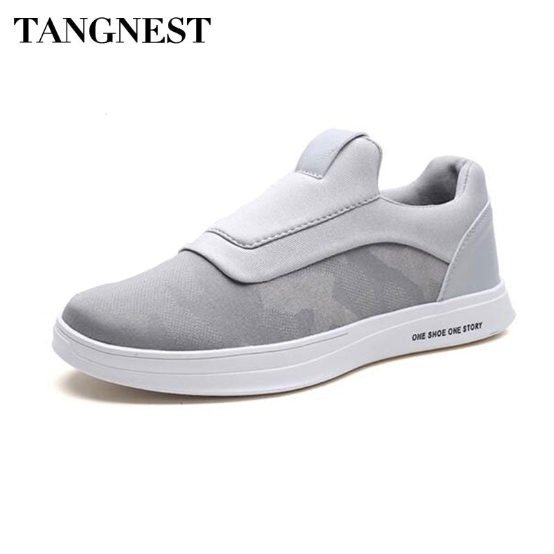 Tangnest NEW 2018 Men Camouflage Canvas Shoes Casual Breathable Summer Loafers Man Fashion Slip-on Sneakers Men Flats XMR2871