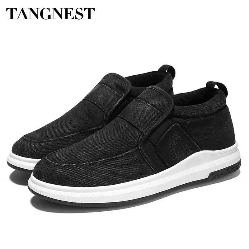 Tangnest 2018 Spring Men Canvas Shoes Slip-on Breathable Flats Comfortable Loafers Wearable Outdoor Male Sneakers