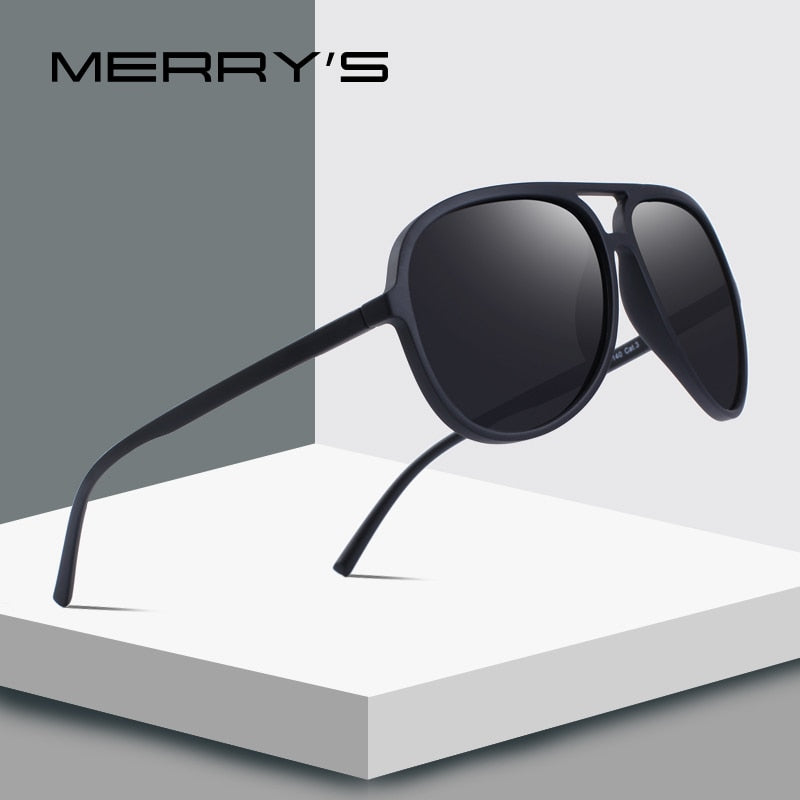 MERRY'S DESIGN Men Classic Pilot Polarized Sunglasses Lighter Frame 100% UV Protection S'8510