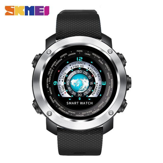 SKMEI Smart Digital Watch HeartRate Calories Remote Camera Waterproof Wristwatch Fashion Watch Relogio Masculino Erkek Kol Saati