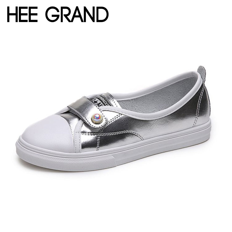 HEE GRAND 2018 New Women Flats Women Causal Fashion Sneakers Buckle Strap Loafers Light Wearing Shoes XWD6821