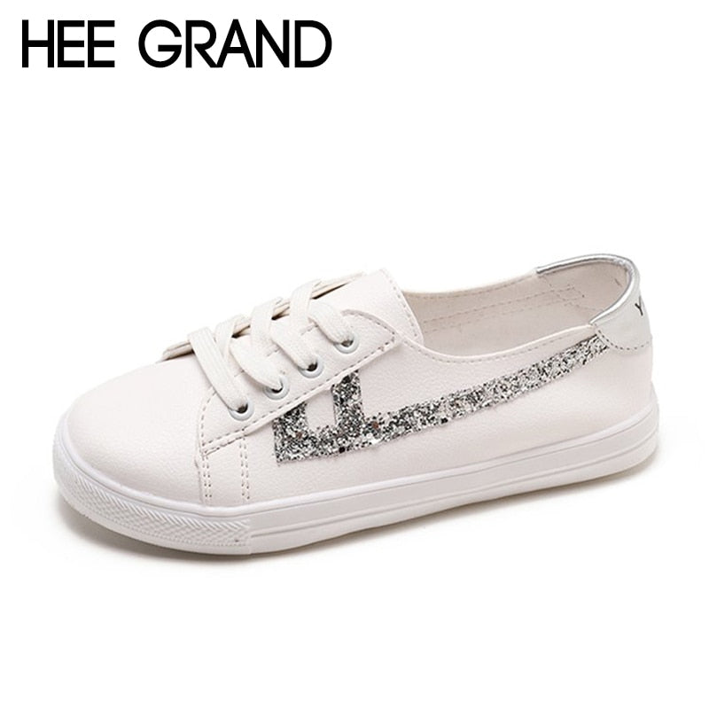 HEE GRAND 2018 New Women Flats Women Causal Fashion Sneakers Cavans Oxfords Loafers Light Wearing Shoes XWD6820
