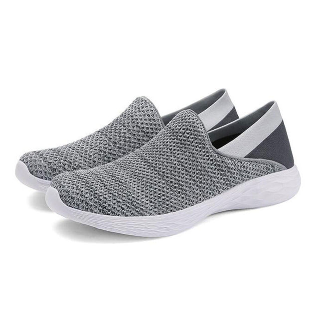 Tangnest NEW Autumn Knitted Men's Sneakers Fashion 5 Colors Couples Breathable Shoes Men Casual Shallow Loafers Size 47 XMR2932