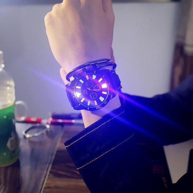 Unisex Couple Fashion LED Luminous Lights Electronic Watch Hot Women Men Quartz Wrist Watch Casual Student Clock Men's  Relogio
