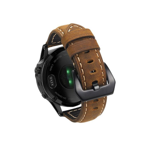 Leather Strap Band for Garmin Fenix-5 Classic Smart Watch Bracelet