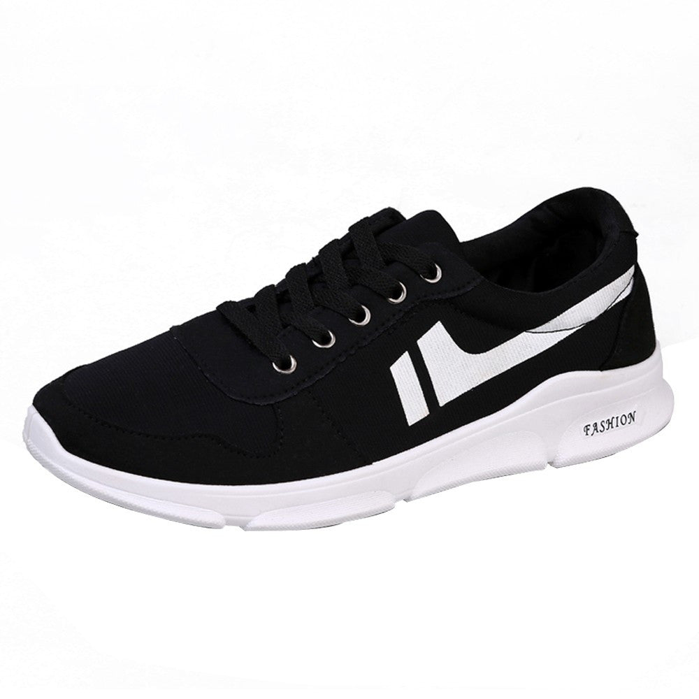 Men Boys Mesh Breathable Round Toe Lace-up  Sneakers Running Shoes Casual Shoes