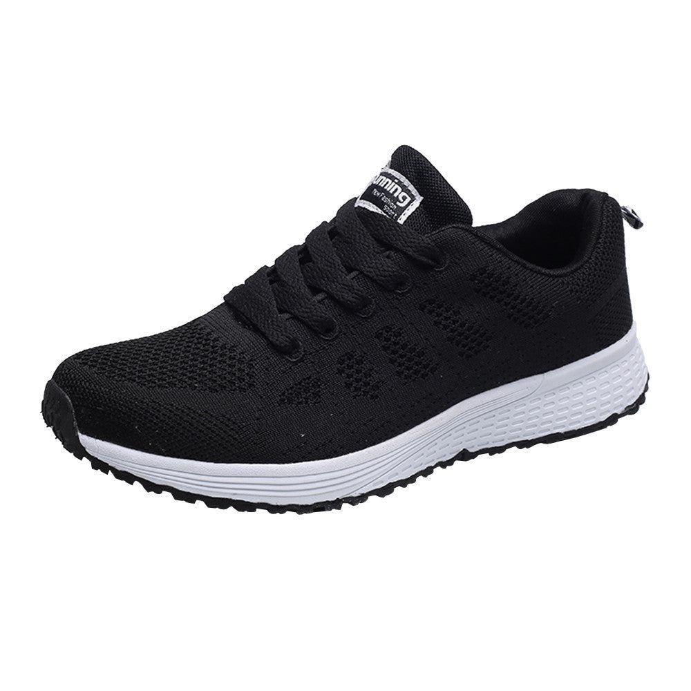 Men Fashion Mesh Round Cross Straps Flat Sneakers Running Shoes Casual Shoes