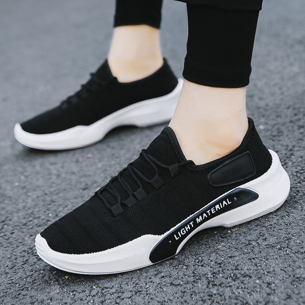 Men Mesh Breathable Round Toe Lace-up  Sneakers Running Shoes Casual Shoes