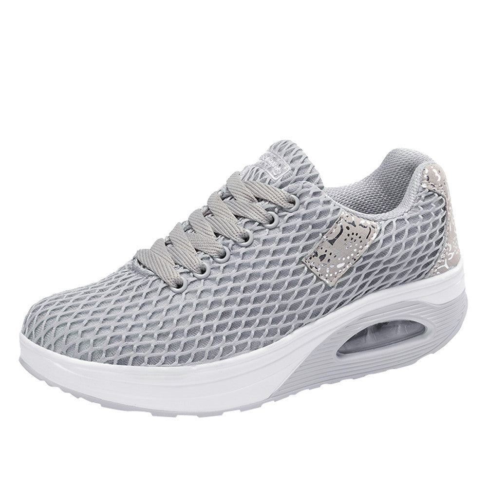 Women Outdoor Mesh Casual Sports Shoes Thick-Soled Air Cushion Shoes Sneakers