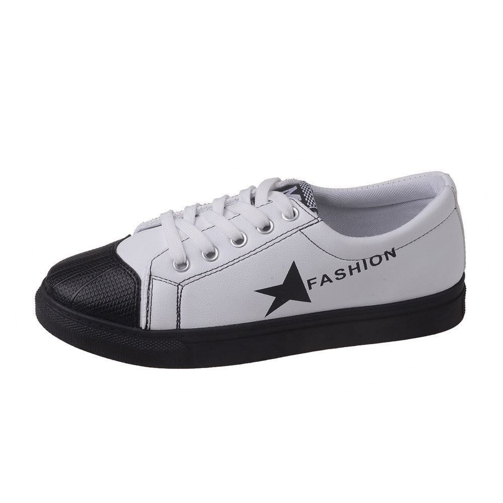 Women Leather Shoes Sneakers Soft Sole Slip-on Breathable Casual Sports Shoes