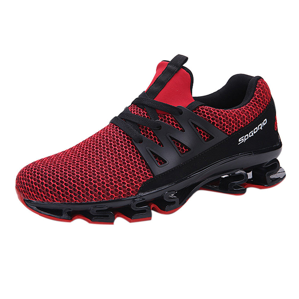 Mens Casual Walking Sneaker Slip On Blade Outdoor Sport Shoes Mesh Running Shoes