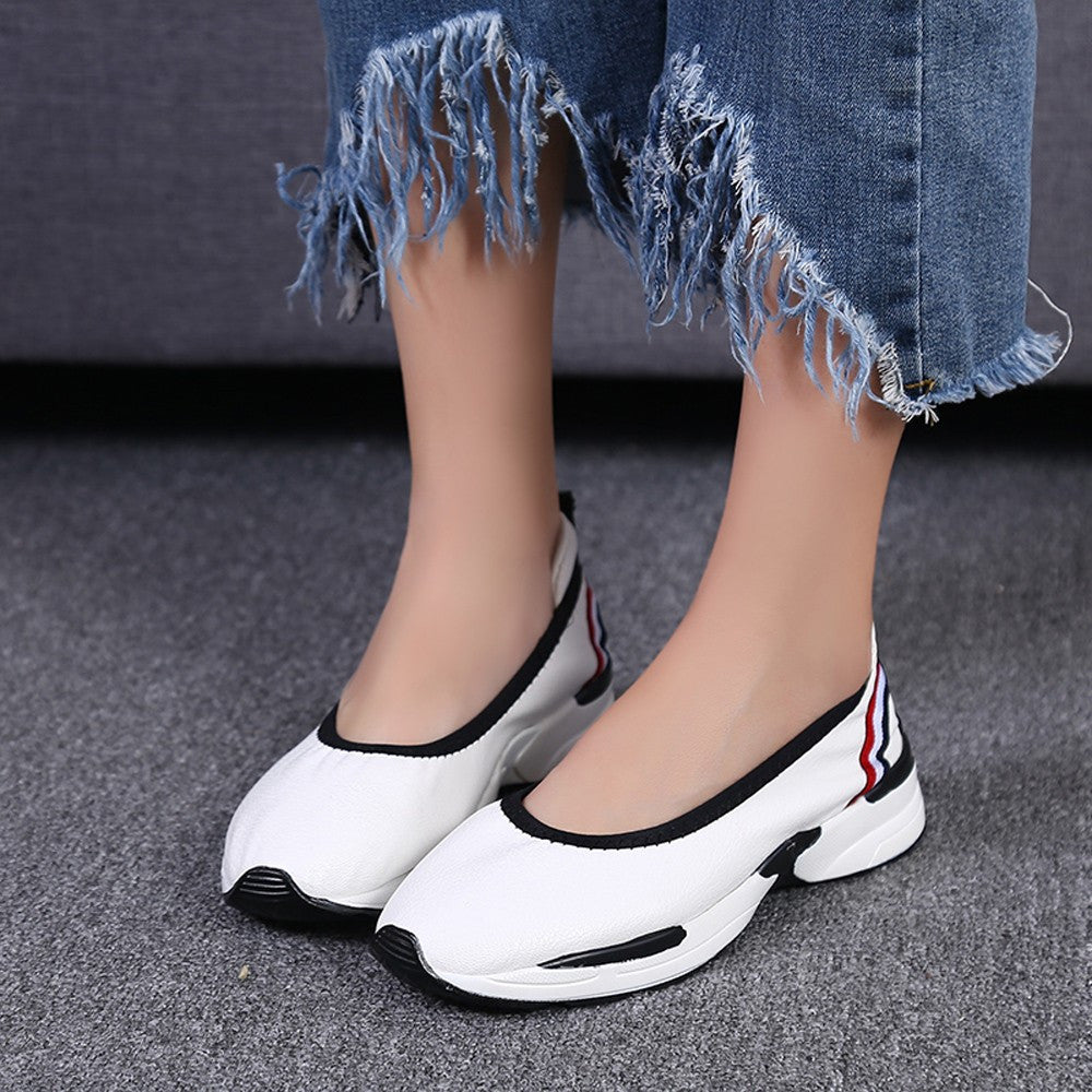Women Fashion Flats Loafers Casual Breathable Slip Shoes Lazy shoes Sneakers
