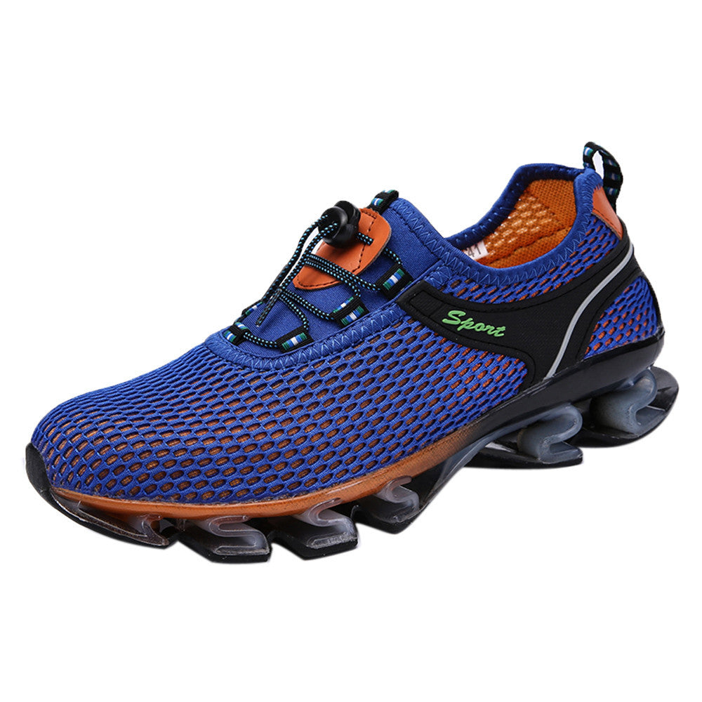 Mens Running Light Mesh Athletic Walking Sneaker Slip On Outdoor Sport Shoes