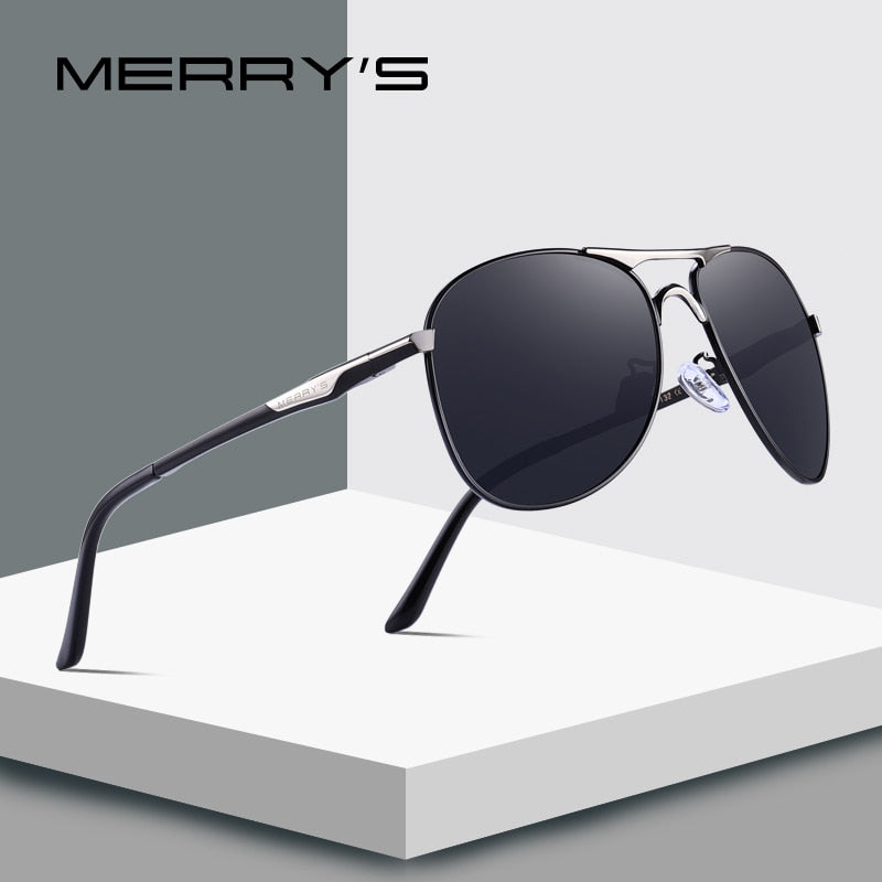 MERRY'S DESIGN Men Classic Pilot Sunglasses Mens HD Polarized Sun glasses For Driving Luxury Shades UV400 Protection S'8712