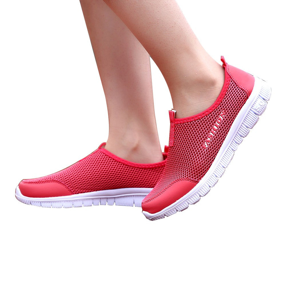 Women Light Sneakers Breathable Mesh Casual Shoes Walking Outdoor Sport Shoes