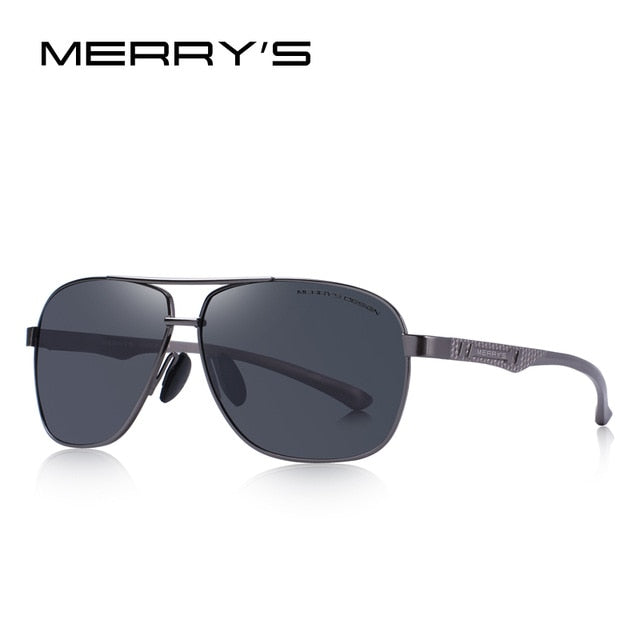 MERRY'S DESIGN Men HD Polarized Sunglasses Aviation Alloy Frame HD Polarized Sunglasses For Men Driving UV400 Protection S'8157
