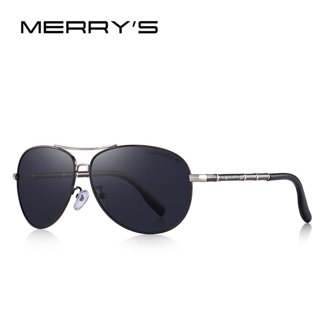 MERRY'S DESIGN Men Classic Pilot Sunglasses HD Polarized Sunglasses For Men Luxury Shades UV400 Protection S'8766
