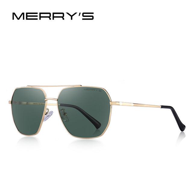 MERRY'S DESIGN Men Classic Square Sunglasses Aviation Frame HD Polarized Sunglasses For Men Driving UV400 Protection S'8211