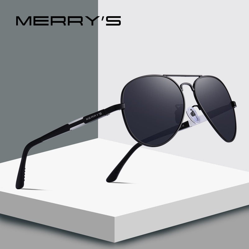 MERRY'S DESIGN Men Classic HD Polarized Pilot Sunglasses For Driving  Aviation Aluminum Mens Eyewear UV400 Protection S'8285