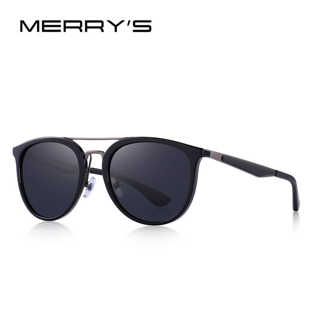 MERRY'S DESIGN Men Classic Retro Polarized Sunglasses Stainless steel Bridge Lighter Design UV400 Protection S'8129