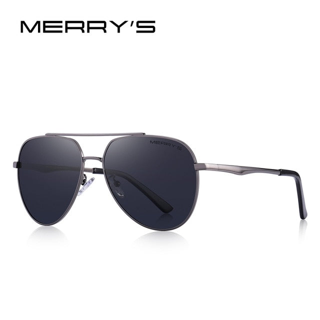 MERRY'S DESIGN Men Classic Pilot Sunglasses Aviation Frame HD Polarized Sunglasses For Men Driving UV400 Protection S'8316