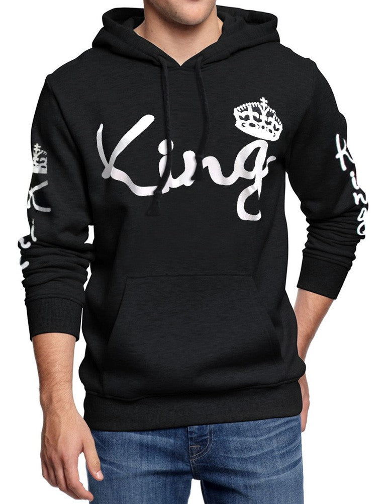 Women Men long sleeve hoodie, king queen letter print hoodie, women men lover couple long sleeve sweatshirt, women men fashion long sleeve sweatshirt,Women Men long sleeve blouse