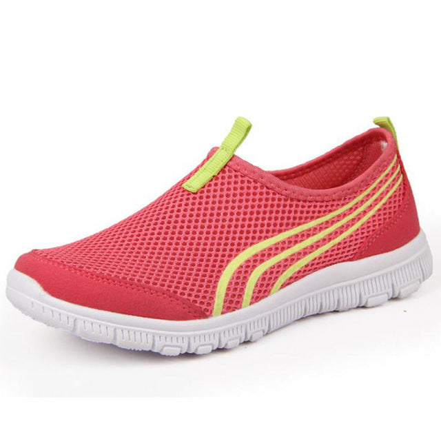 HEE GRAND Women Shoes Breathable Mesh Summer Shoes with Sneaker Creepers Women Casual Swing Loafers Women Footwear XWR100