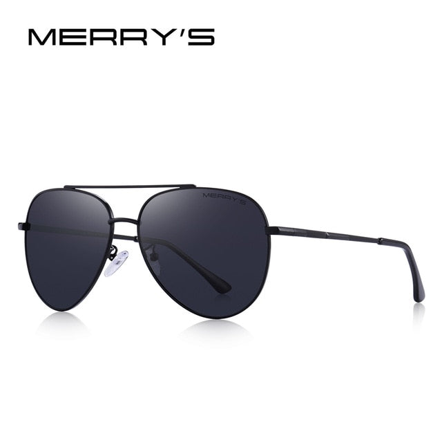 MERRY'S DESIGN Men Classic Pilot Sunglasses Aviation Frame HD Polarized Sun glasses For Men Driving UV400 Protection S'8138