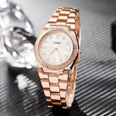 Hot sale Women Watches Cussi Brand Stainless Steel Smart Bracelet Dress Quartz-watches Japanese Movement Gold/Rose gold/Silver