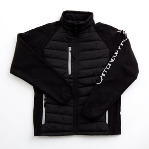 Soft Shell Jacket. Black and Charcoal