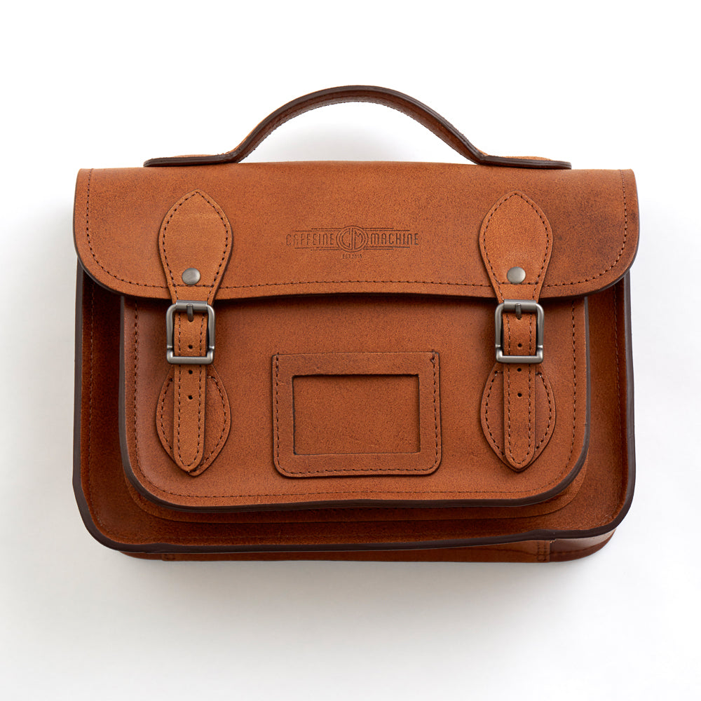 Leather Satchel. Tan