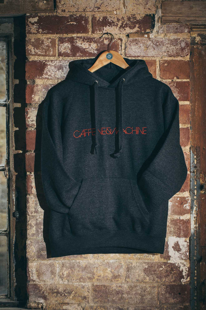 C&M Hoody. Charcoal and Red