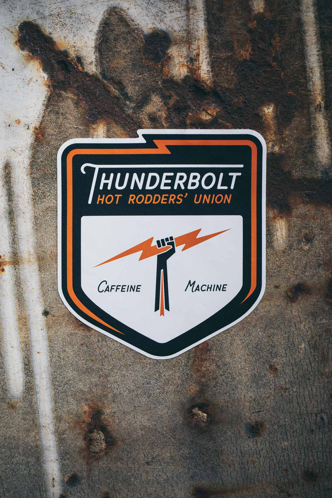 Sticker. Mini Thunderbolt Shield