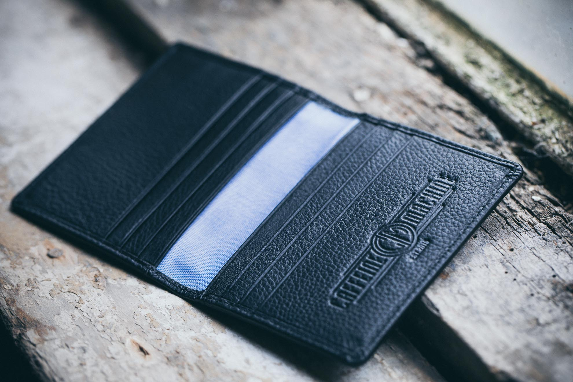 Card Holder. Black Leather.