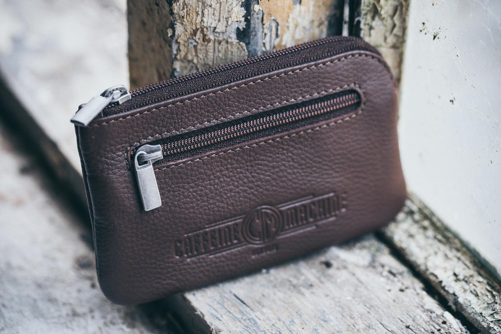 Keycase. Brown Leather key case.