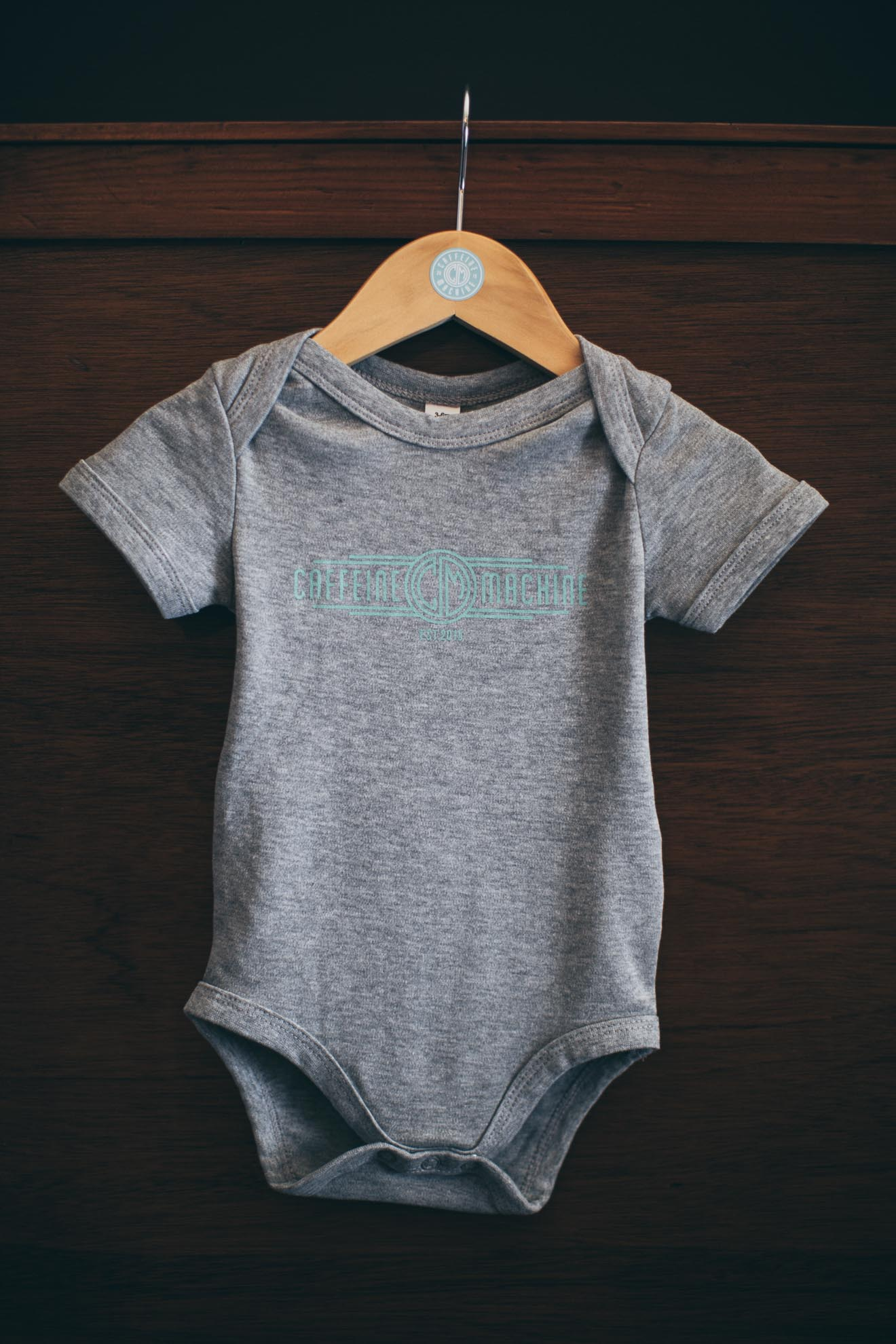 Baby Grow. Grey & Mint