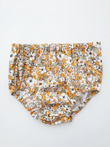 Mustard Retro floral bloomers