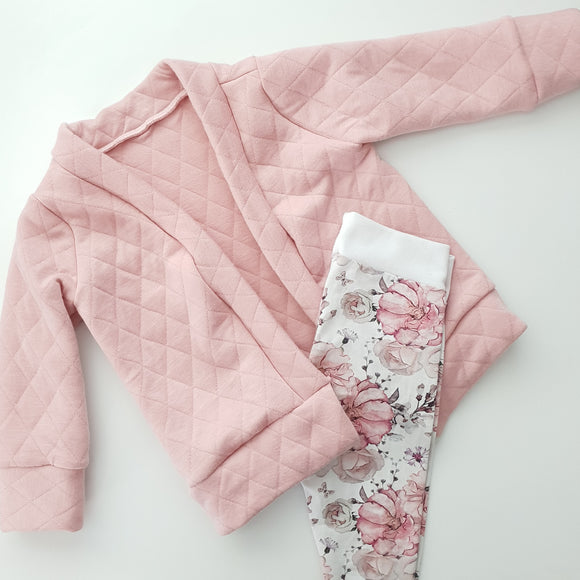 Quilted Cardigan - Pink pastel