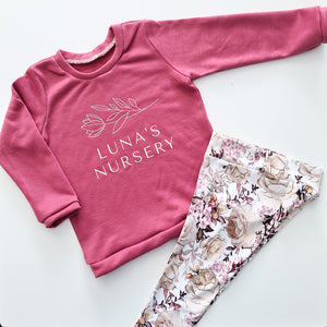 Luna Sweater - Deep Rose