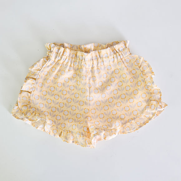 Flutter shorts - Yellow daisy