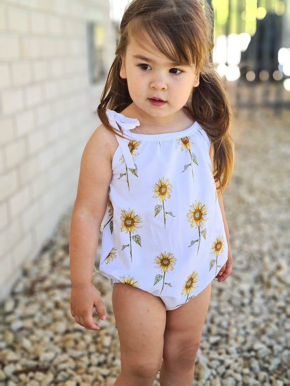 Summer Romper - Sunflowers