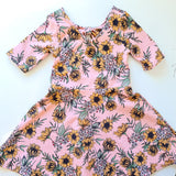 Frankie dress - Retro Sunflowers