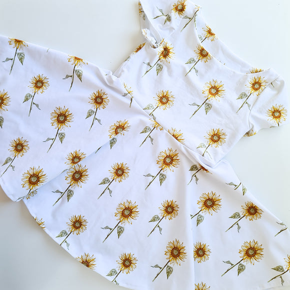 Wattle dress - Sunflowers
